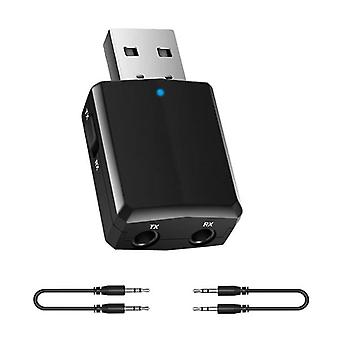 Bluetooth-ontvangerzender: Mini Stereo 5.0 Audio Aux Rca, Usb 3,5mm Jack