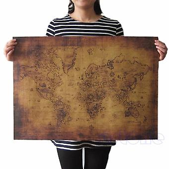 Large Vintage Style Retro Paper Poster, Globe Old World Map