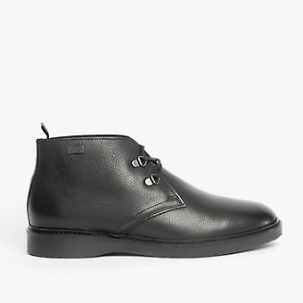 Barbour International Piston Mens Leather Chukka Boots Black