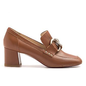 Loafers In Soft Nappa Leather Medium Heel