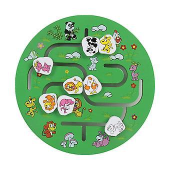 Puzzle d'apprentissage en bois - Scène d'enseignement appariement éducatif Correspondant Maze Enfants
