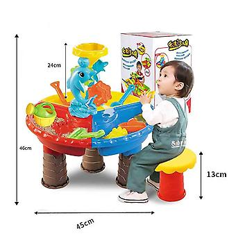 Kinder Sommer Outdoor Strand Sandkasten Spielzeug, Sand Eimer Wasser Rad Tisch Spiel Set