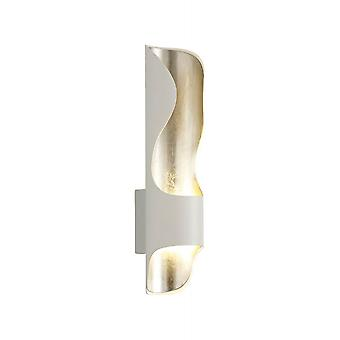 Adeline Wall Lamp, 8w Led, 3000k, 640lm, White/silver Leaf, 3yrs Warranty
