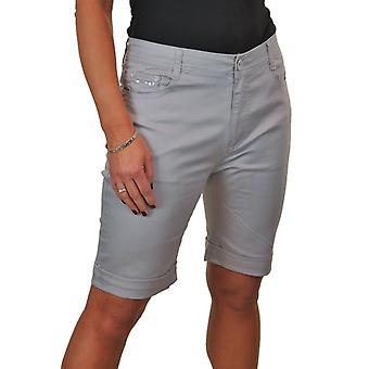 Femmes Stretch Jeans Style Shorts Chino Sequin Pockets 14-24