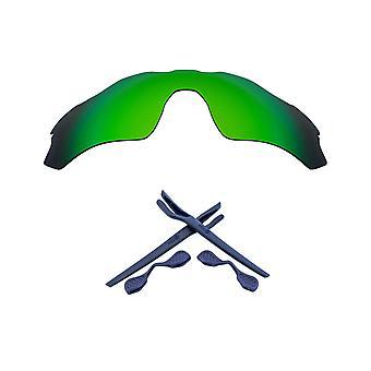 Polarized Replacement Lens Kit for Oakley Radar EV Path Green Mirror Navy Blue Anti-Scratch Anti-Glare UV400 SeekOptics