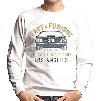 Fast and Furious Custom Muscle Cars Los Angeles Men's Sweatshirt