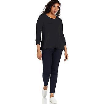 Brand - Daily Ritual Women's Jersey Long-Sleeve Scoop-Neck Swing Shirt, Black, Small