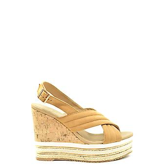 Hogan Ezbc030225 Women's Beige Leather Sandals
