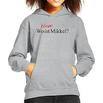 Dark Wo Ist Mikkel Wann Kid's Hooded Sweatshirt