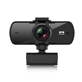 2K HD USB Universal Webcam com microfone Câmera Preta Laptop Pc Acessórios