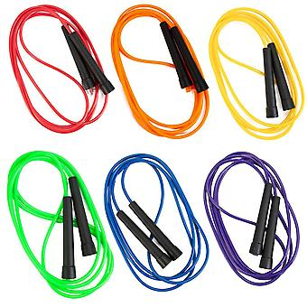 Mixed 8-foot PVC Speed Jump Ropes, 6-pack