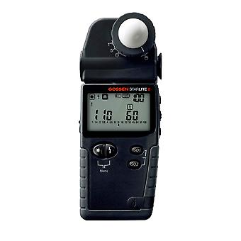 Gossen starlite multifunction digital ambient and flash light meter with reflected spot setting