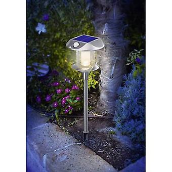 Esotec Solar garden light (+ motion detector) Sunnylight 102092 LED (monochrome) Warm white Stainless steel