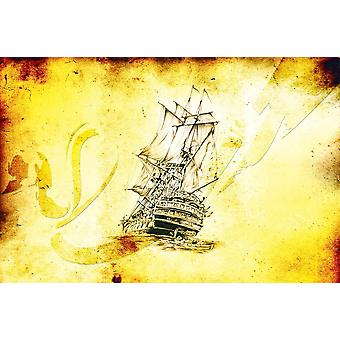 Photo wall mural medieval sea boat