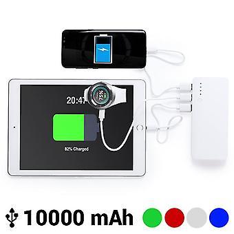 Power bank with triple USB 10000 mAh Grey