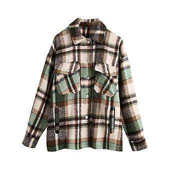Mujeres's chaqueta de gran tamaño casual ropa de calle larga