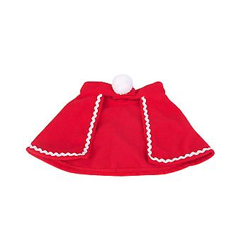 Pet Happy Birthday Hat Costume Headgear Flannel Cloak Party Decorations Red