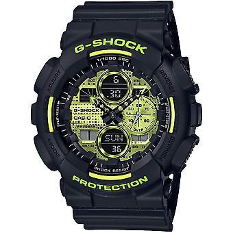 G-Shock GA-140DC-1AER Yellow Dial Multi-Function Wristwatch