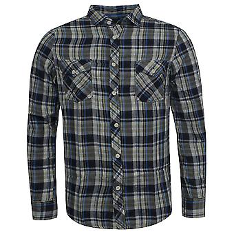 Ben Sherman Checkered Slim Fit Long Sleeve Collared Mens Shirt Top MA00034 67A