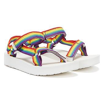 Teva Midform Universal Rainbow Womens White Sandals