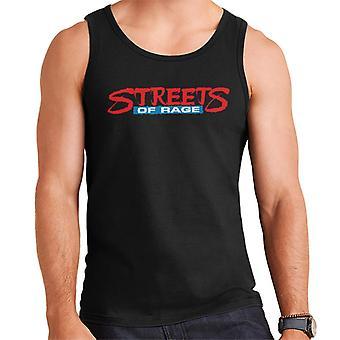 Sega Streets Of Rage Logo Menn's Vest