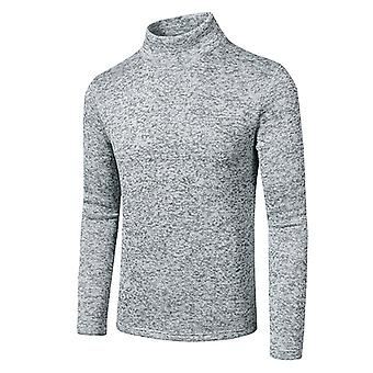 Mens Fleece High Neck Slim Fit Basic Sweatshirt