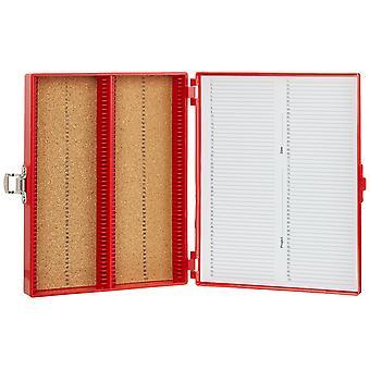 Heathrow scientific hd15994c microscope slide box, cork lined, 100 place, 208 mm length x 175 mm wid