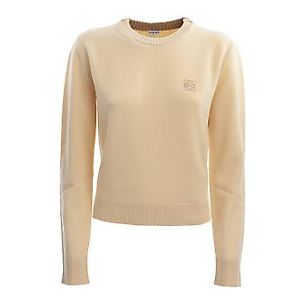 Loewe S817y14k338250 Women's Yellow Wool Sweater