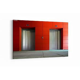 Malerei - Zwei Aufzugstüren - 100x70cm