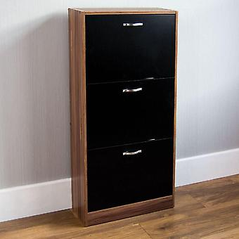 Vida Designs 3 Drawer Shoe Cabinet Cupboard Shoe Storage Organiser