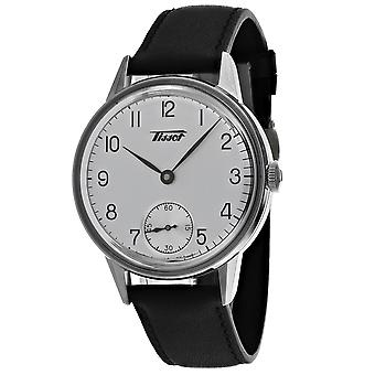 Tissot hombres's Herritage Petite reloj de esfera de plata - T1194051603700