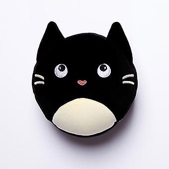 Felino gato fino relaxeazzz pelúcia rodada de viagem conjunto máscara de olho de travesseiro