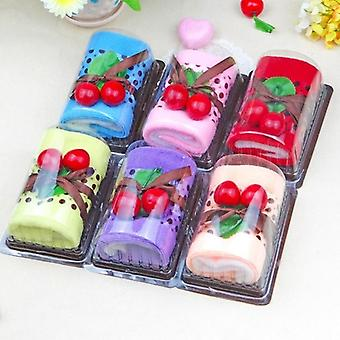 1 Piece Cute Hand Towel Face Cloth Roll Cake Shape Washcloth
