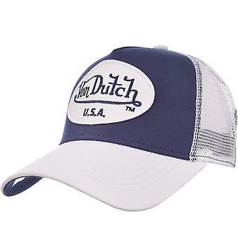 Von niederländischen Herren Patch Logo verstellbar Snapback Trucker Mütze Hut - Marine/weiß