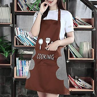 Apron-kitchen Restaurant Cooking Bib Aprons With Pocket
