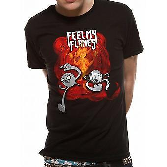 Adventure Time Unisex Adult Feel My Flames T-paita