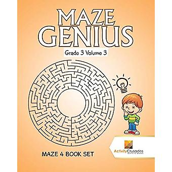 Maze Genius Grade 3 Volume 3 - Maze 4 Book Set by Activity Crusades -