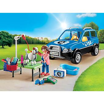 Playmobil city life mobile pet groomer with removable roof