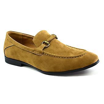 Men's Brass Snaffle Formal Shoes Tan