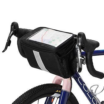 Bicycle handlebar insulated cooler bag