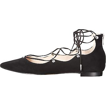 Marc Fisher Womens Salia Suede Pointed Toe Ankle Wrap Slingback Flats