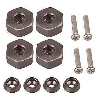 4 stuks titanium kleur hex drive hub adapters met schroef washer&screw