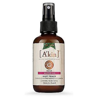 A'kin Rose Mist Toner Moisture Rich Aloe Vera Natural Australian Skin Care 150ml