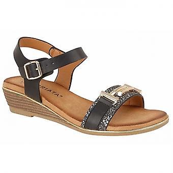 Cipriata Italina Ladies Halter Strap Sandals Black