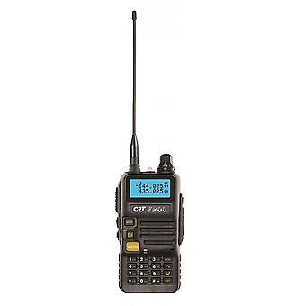 VHF / UHF stație de radio portabil CRT FP00 dual band 136-174 și 400-440 MHz culoare Negru, VOX, 128 canale, Scanare, Programabil, Lanternă, Radio FM, TOT, Repetor