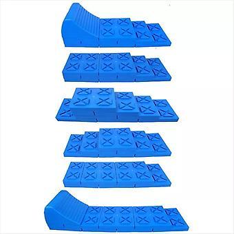 ProPlus Stackable Motorhome Leveler Set Plastic Blue