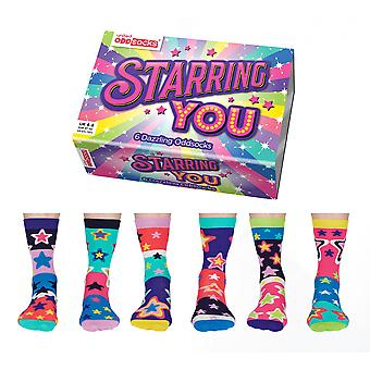 United Oddsocks Star Design Socks