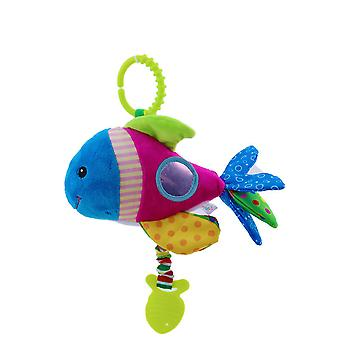 Fish Cartoon Rattling Doll Cute Baby Hanging Toys With Bell Sound Paper Bb Device Teether For Children Soft Plush Rattle Toys