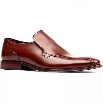 Base London Jacob Mens Leather Slip On Shoes Tan