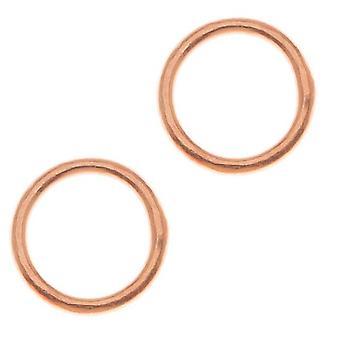 Bright Copper Closed Jump Rings 8mm 18 Gauge (25)